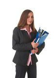 Beautiful brunette businesswoman Royalty Free Stock Images