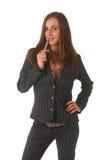 Beautiful brunette businesswoman Royalty Free Stock Photos