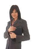 Beautiful brunette businesswoman Royalty Free Stock Photo