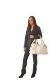 Beautiful brunette businesswoman Stock Image