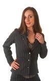 Beautiful brunette businesswoman Stock Images