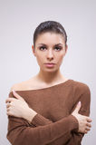 Brunette in sweater Stock Photography