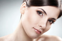 Beautiful brunette with clean face Royalty Free Stock Photo