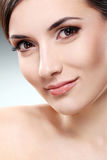 Beautiful brunette with clean face Royalty Free Stock Photography