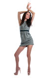 Beautiful Brunette Dancing Stock Photography