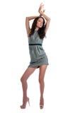 Beautiful Brunette Dancing Stock Photography