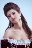 Beautiful brunette in a dress Royalty Free Stock Images