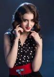 Beautiful brunette in dress Royalty Free Stock Photo