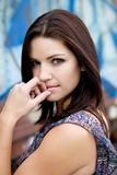 Beautiful Brunette with an edge Royalty Free Stock Photos