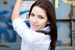 Beautiful Brunette with an edge Royalty Free Stock Photography