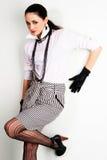 Beautiful brunette in elegant clothing Stock Photos