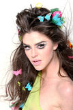 Beautiful brunette fashion girl Royalty Free Stock Photos