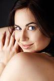 Beautiful brunette fashion model stock images