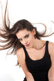 Woman waving her hair Royalty Free Stock Image