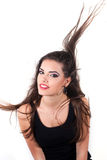 Woman waving her hair Stock Images