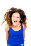 Beautiful brunette flipping hair Stock Photography