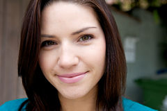 Beautiful Brunette with Fresh Skin Stock Photography