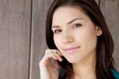 Beautiful Brunette with Fresh Skin Stock Image