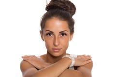 Beautiful brunette gir Royalty Free Stock Photos