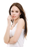 Beautiful brunette girl Royalty Free Stock Images