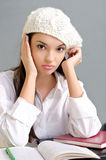 Bored student girl. Royalty Free Stock Images