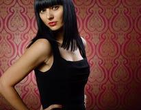 Beautiful brunette girl glamour portrait Royalty Free Stock Photos