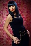 Beautiful brunette girl glamour portrait Stock Image