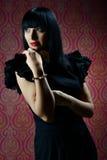 Beautiful brunette girl glamour portrait Stock Photos