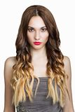 Beautiful Brunette Girl. Healthy Long Brown Hair. Royalty Free Stock Images