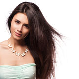 Beautiful Brunette Girl with Healthy Long Hair Royalty Free Stock Photos