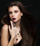 Beautiful Brunette Girl. Stock Images