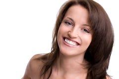 Beautiful brunette girl. Isolated on white background Stock Photo