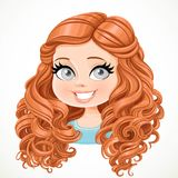 Beautiful brunette girl with long curly brown hair Royalty Free Stock Images