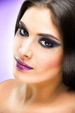Beautiful Brunette Girl with luxury makeup Stock Photo