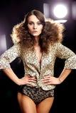 Beautiful Brunette Girl. Perfect Makeup. Make-up stock images