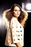 Beautiful Brunette Girl. Perfect Makeup. Make-up royalty free stock photo