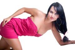 Beautiful brunette girl posing in studio Stock Photography