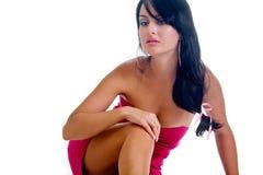 Beautiful brunette girl posing in studio Royalty Free Stock Photography