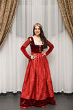 Beautiful brunette girl in Princess costume Royalty Free Stock Image