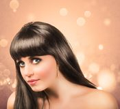 Beautiful brunette girl Royalty Free Stock Photos