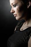 beautiful brunette girl tear Στοκ Φωτογραφία