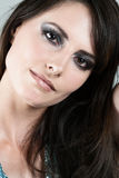 Beautiful brunette in glamorous makeup Royalty Free Stock Photo