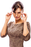 Beautiful brunette in glasses Royalty Free Stock Photo