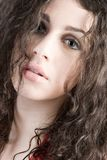 Beautiful Brunette Headshot Royalty Free Stock Images