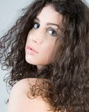 Beautiful Brunette Headshot Royalty Free Stock Photography