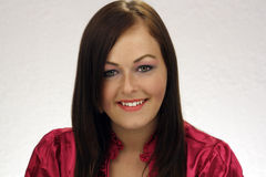 Beautiful Brunette Headshot Royalty Free Stock Photos