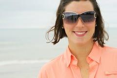 Beautiful Brunette Headshot Upclose Stock Photography