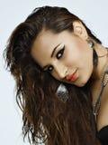 Beautiful brunette hispanic woman Royalty Free Stock Photos