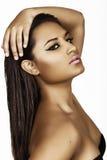 Beautiful brunette hispanic woman Stock Photos