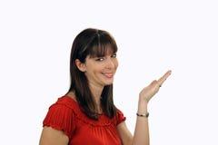 Beautiful Brunette Hostess (5) Royalty Free Stock Photos